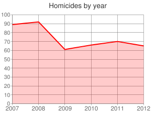 Homicides by year