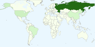 Gráfico dos países mais populares entre os visitantes do blogue