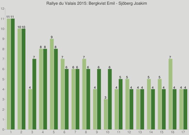 Rallye du Valais 2015: Bergkvist Emil - Sjöberg Joakim