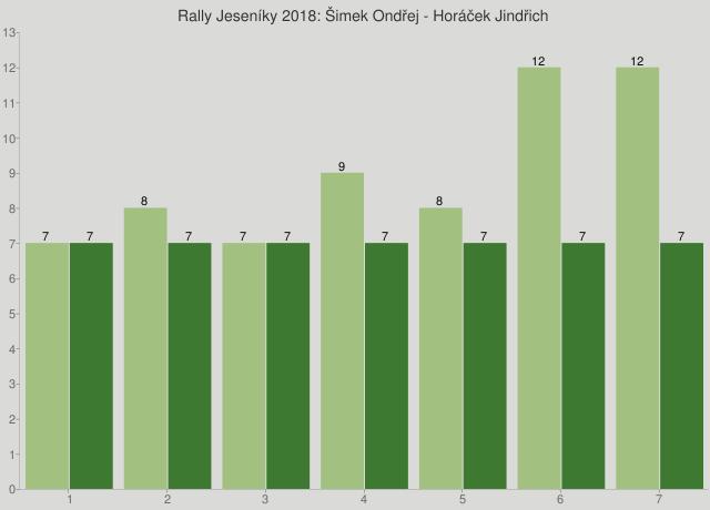 Rally Jeseníky 2018: Šimek Ondřej - Horáček Jindřich