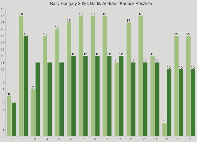 Rally Hungary 2020: Hadik András - Kertész Krisztián