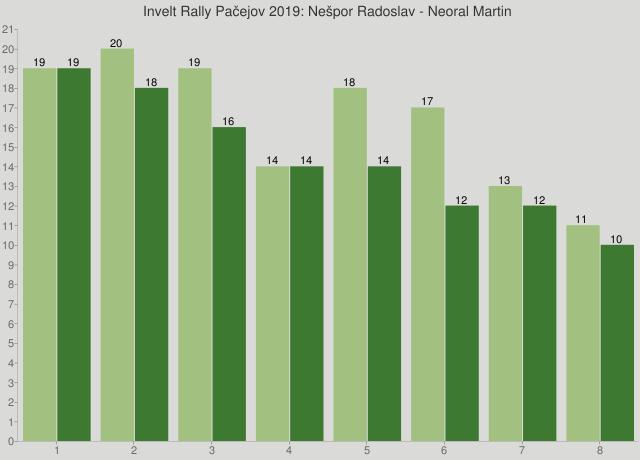 Invelt Rally Pačejov 2019: Nešpor Radoslav - Neoral Martin