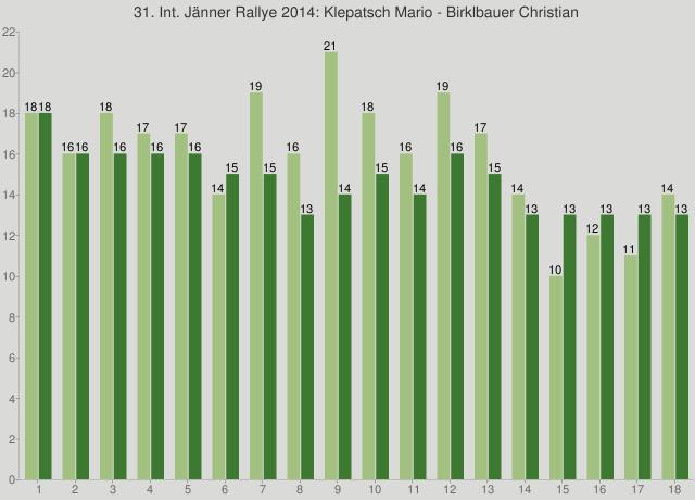 31. Int. Jänner Rallye 2014: Klepatsch Mario - Birklbauer Christian