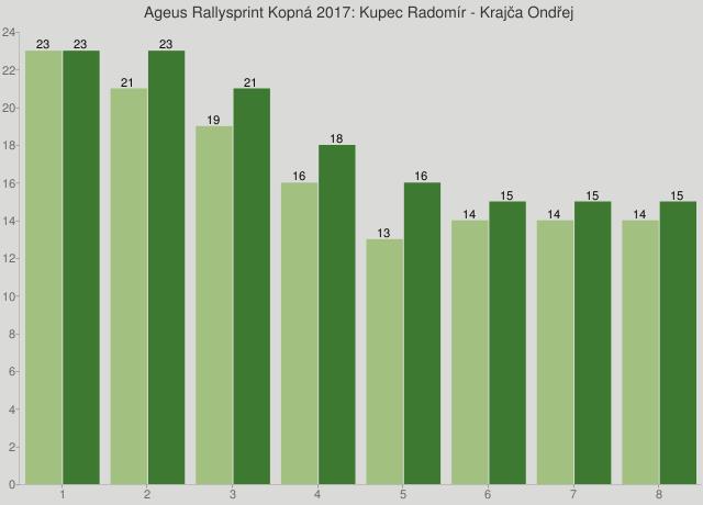 Ageus Rallysprint Kopná 2017: Kupec Radomír - Krajča Ondřej