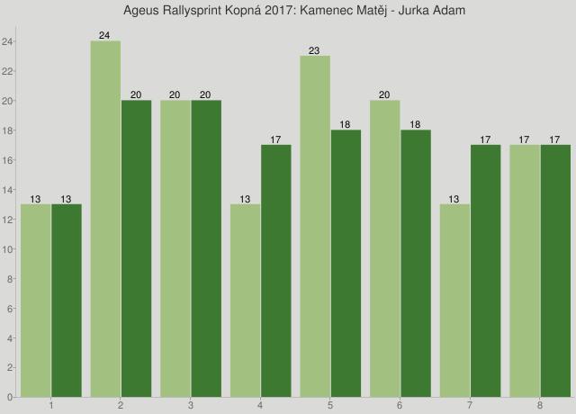 Ageus Rallysprint Kopná 2017: Kamenec Matěj - Jurka Adam