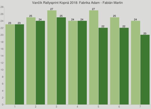 Vančík Rallysprint Kopná 2018: Fabrika Adam - Fabián Martin
