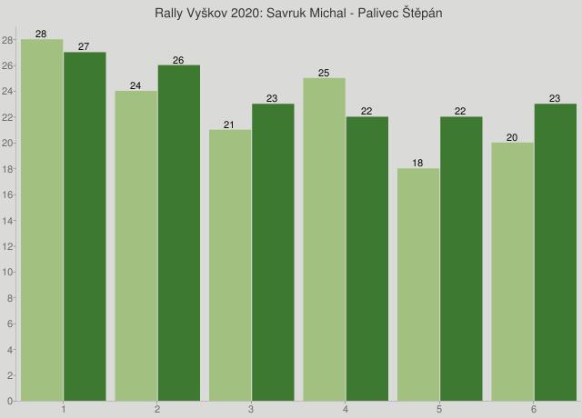 Rally Vyškov 2020: Savruk Michal - Palivec Štěpán