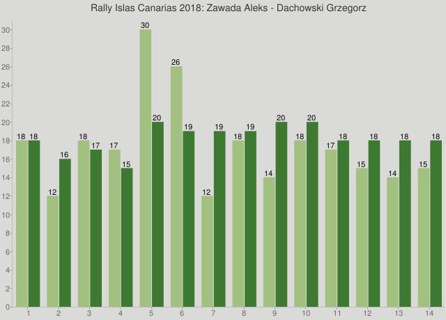 Rally Islas Canarias 2018: Zawada Aleks - Dachowski Grzegorz