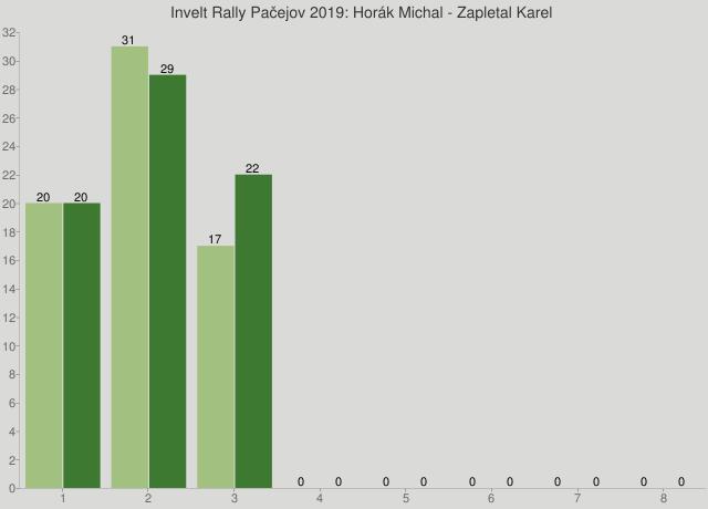 Invelt Rally Pačejov 2019: Horák Michal - Zapletal Karel
