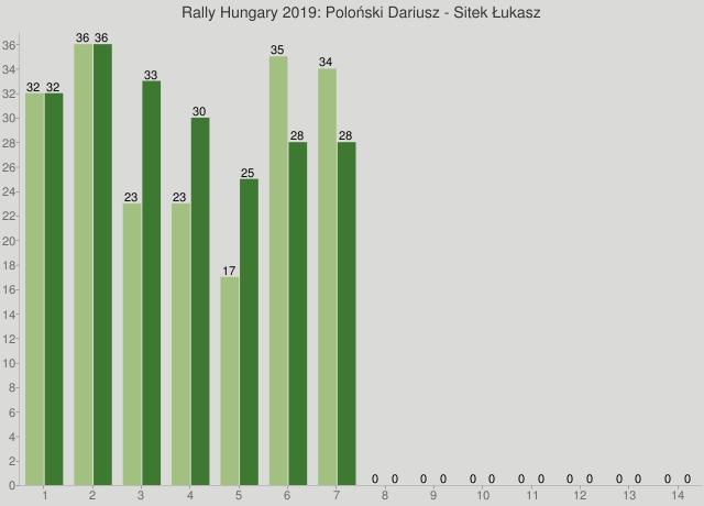 Rally Hungary 2019: Poloński Dariusz - Sitek Łukasz