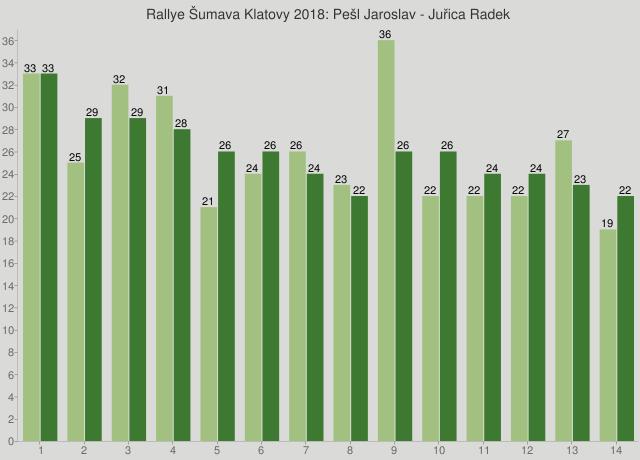 Rallye Šumava Klatovy 2018: Pešl Jaroslav - Juřica Radek