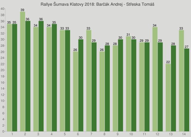 Rallye Šumava Klatovy 2018: Barčák Andrej - Střeska Tomáš