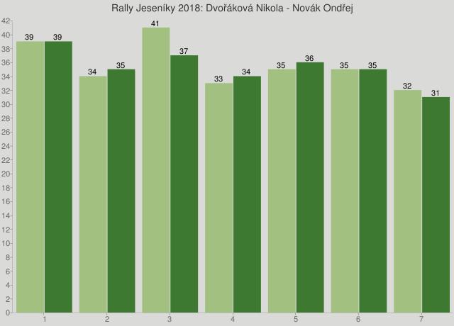 Rally Jeseníky 2018: Dvořáková Nikola - Novák Ondřej