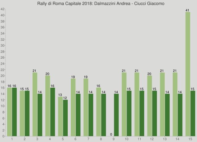Rally di Roma Capitale 2018: Dalmazzini Andrea - Ciucci Giacomo
