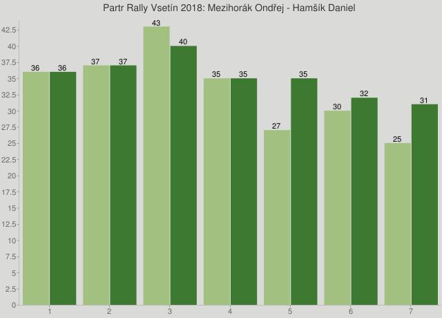 Partr Rally Vsetín 2018: Mezihorák Ondřej - Hamšík Daniel