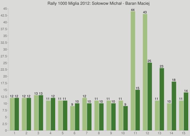 Rally 1000 Miglia 2012: Sołowow Michał - Baran Maciej