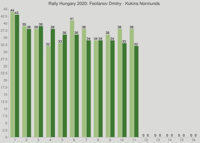 Rally Hungary 2020: Feofanov Dmitry - Kokins Normunds