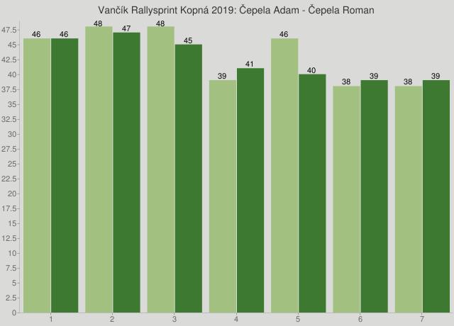 Vančík Rallysprint Kopná 2019: Čepela Adam - Čepela Roman
