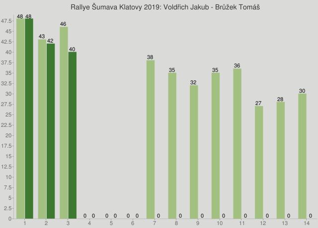 Rallye Šumava Klatovy 2019: Voldřich Jakub - Brůžek Tomáš