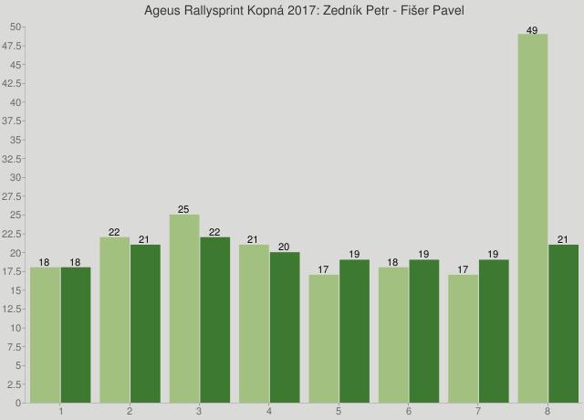Ageus Rallysprint Kopná 2017: Zedník Petr - Fišer Pavel
