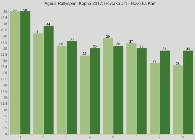 Ageus Rallysprint Kopná 2017: Hovorka Jiří - Hovorka Kamil
