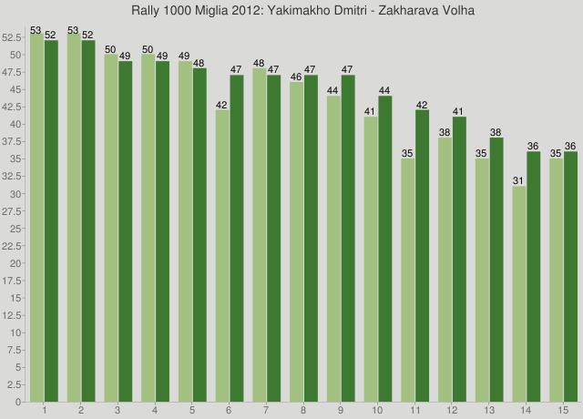 Rally 1000 Miglia 2012: Yakimakho Dmitri - Zakharava Volha