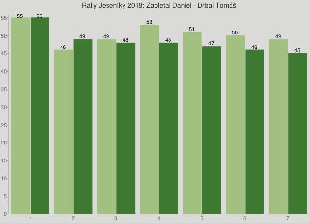 Rally Jeseníky 2018: Zapletal Daniel - Drbal Tomáš
