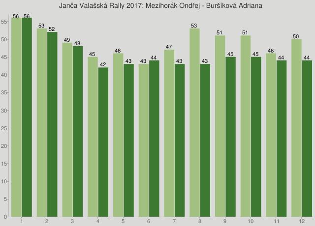 Janča Valašská Rally 2017: Mezihorák Ondřej - Buršíková Adriana