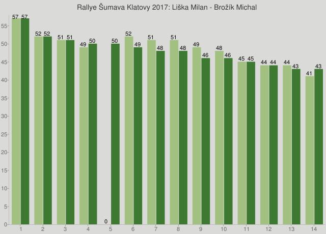 Rallye Šumava Klatovy 2017: Liška Milan - Brožík Michal
