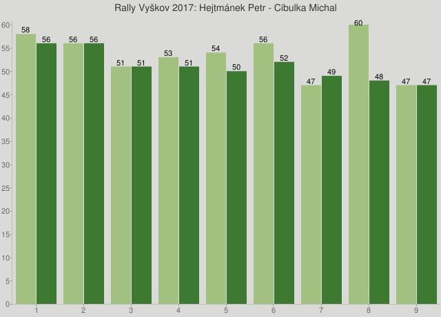 Rally Vyškov 2017: Hejtmánek Petr - Cibulka Michal