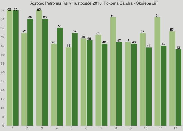 Agrotec Petronas Rally Hustopeče 2018: Pokorná Sandra - Skořepa Jiří