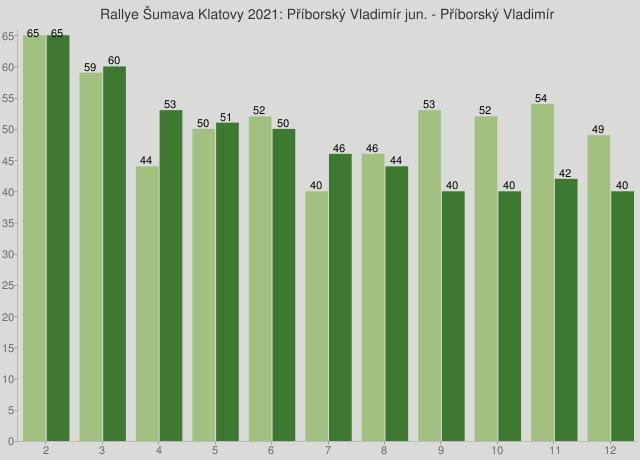 Rallye Šumava Klatovy 2021: Příborský Vladimír jun. - Příborský Vladimír