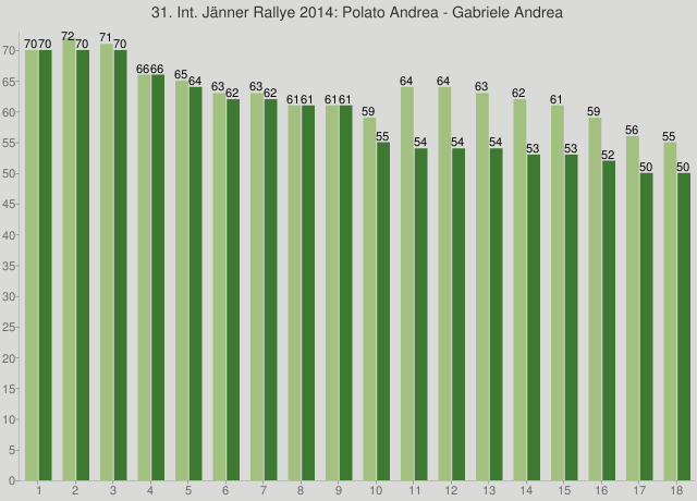 31. Int. Jänner Rallye 2014: Polato Andrea - Gabriele Andrea