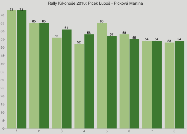 Rally Krkonoše 2010: Picek Luboš - Picková Martina