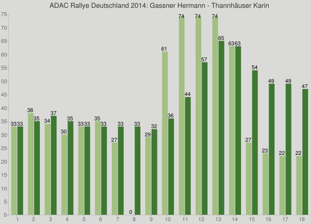 ADAC Rallye Deutschland 2014: Gassner Hermann - Thannhäuser Karin