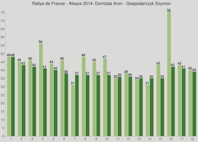 Rallye de France - Alsace 2014: Domżała Aron - Gospodarczyk Szymon