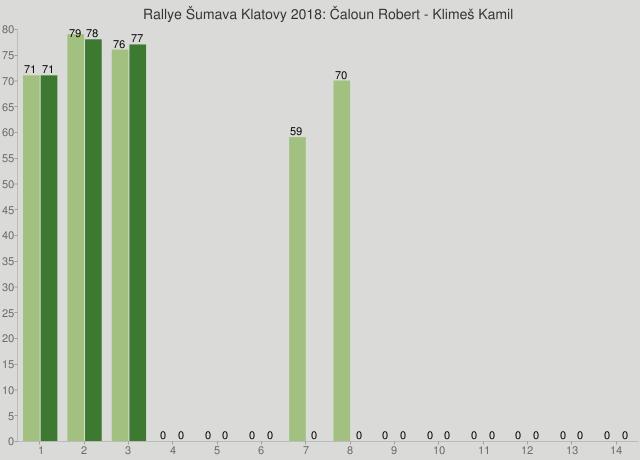 Rallye Šumava Klatovy 2018: Čaloun Robert - Klimeš Kamil
