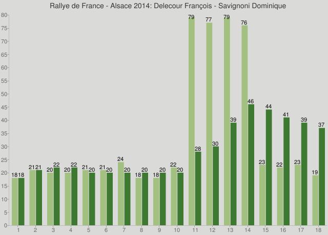 Rallye de France - Alsace 2014: Delecour François - Savignoni Dominique