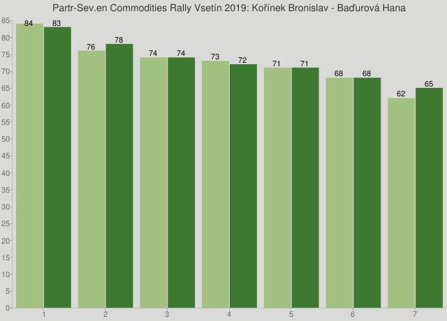 Partr-Sev.en Commodities Rally Vsetín 2019: Kořínek Bronislav - Baďurová Hana