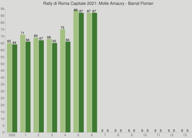 Rally di Roma Capitale 2021: Molle Amaury - Barral Florian