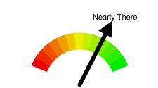 Google-o-meter with default red to green coloring