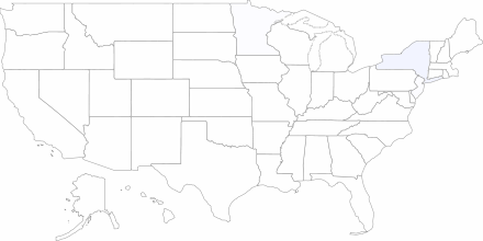 Map of recent contract negotiations