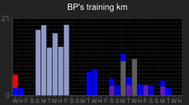 BP's orienteering training log