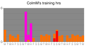 ColmM's kick ass training hours