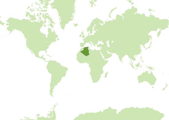 Algerien Karte