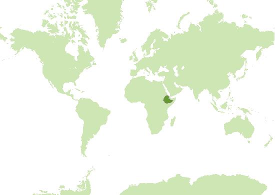 Äthiopien Karte