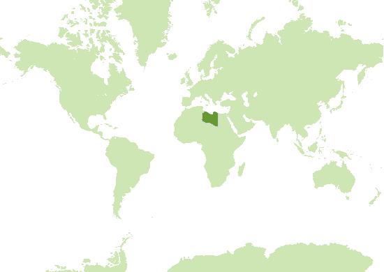Libyen Karte