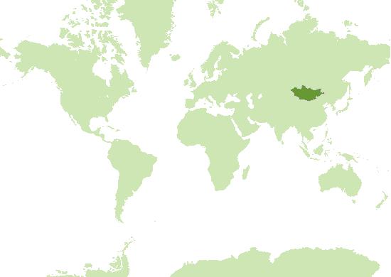 Mongolei Karte