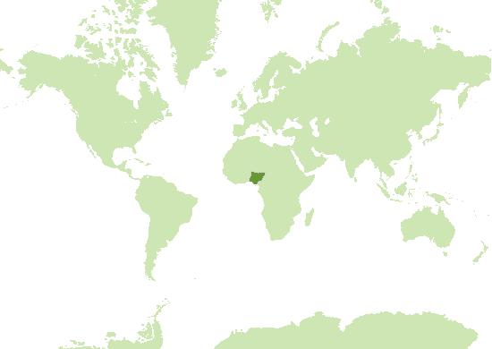 Nigeria Karte