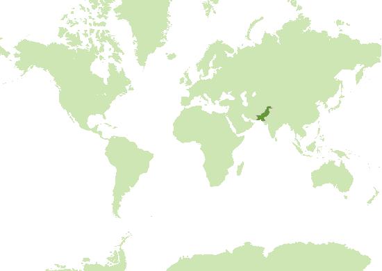 Pakistan Karte